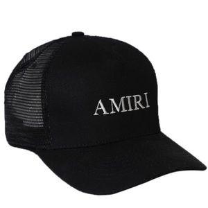 Amiri Logo Trucker Hat Black Men's Adjustable